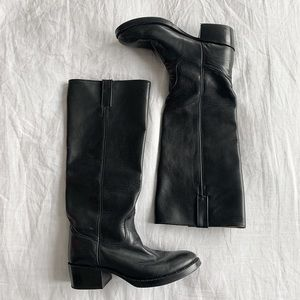 FINAL FLASH- Vintage Leather Saddle Boots